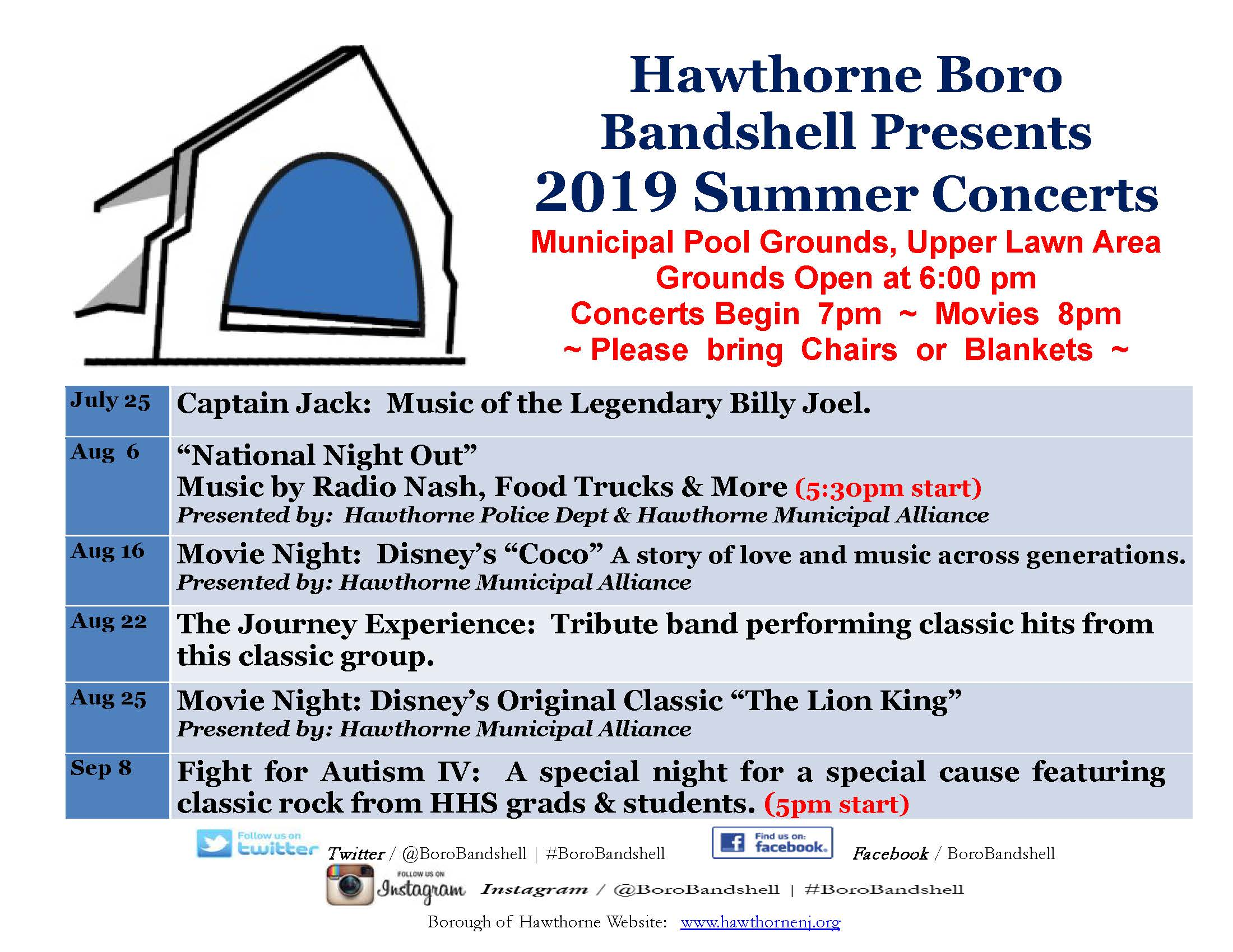 2019 Bandshell Schedule_updated 072219